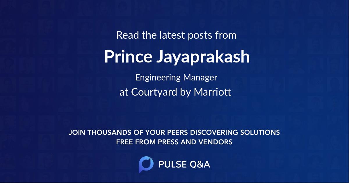 Prince Jayaprakash