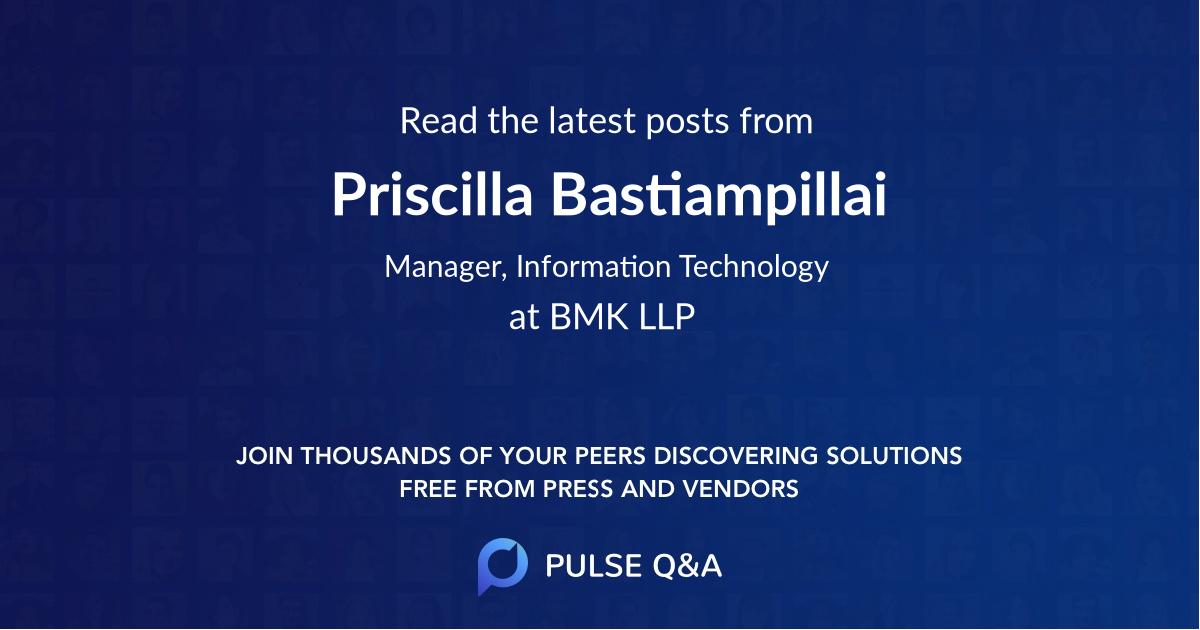 Priscilla Bastiampillai