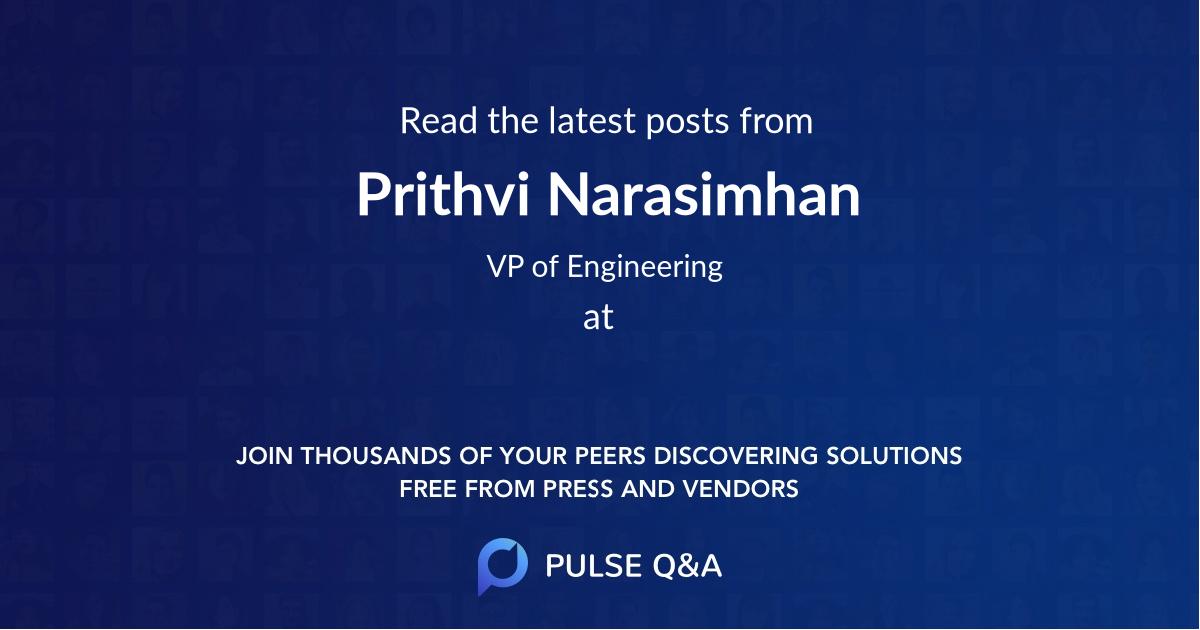 Prithvi Narasimhan