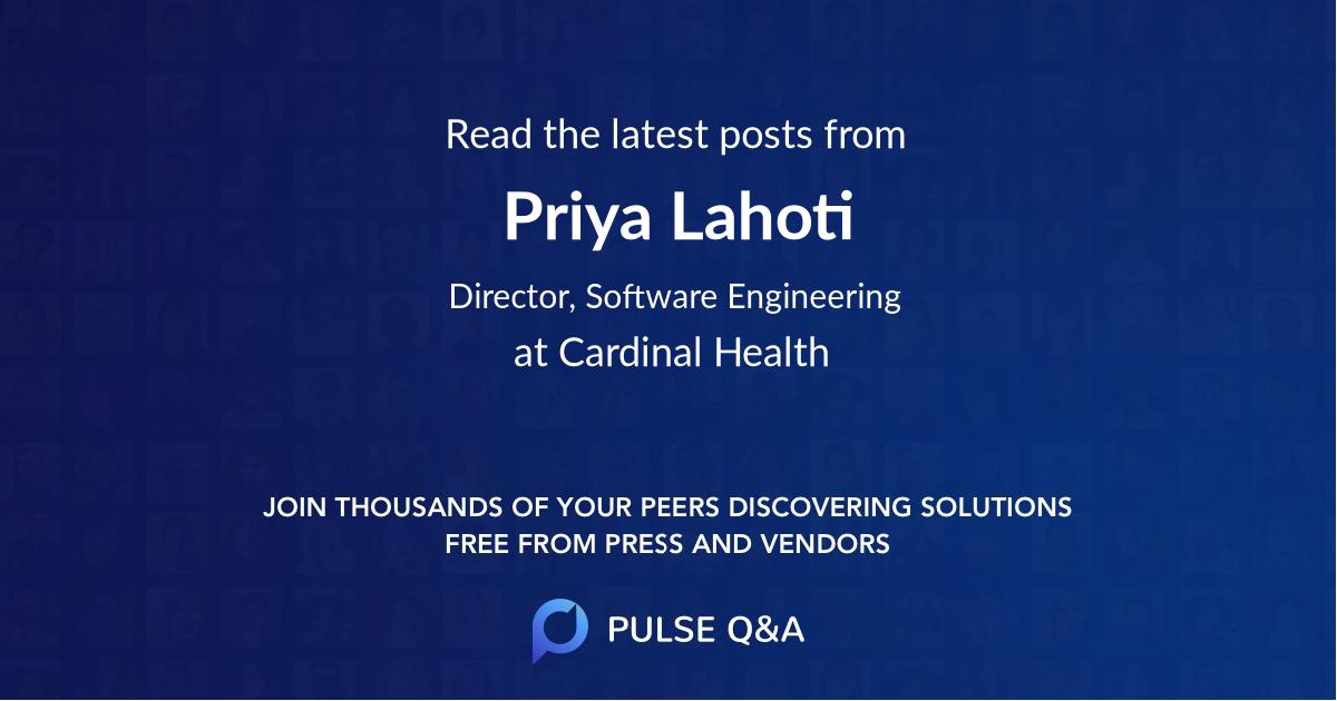 Priya Lahoti