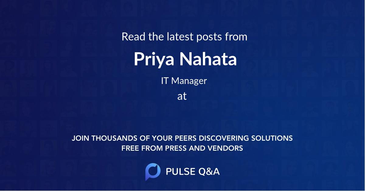 Priya Nahata