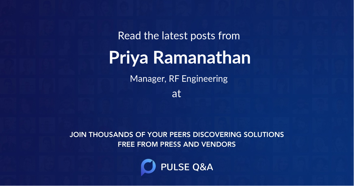 Priya Ramanathan