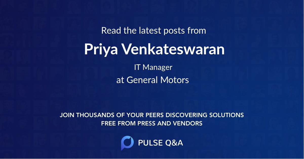 Priya Venkateswaran