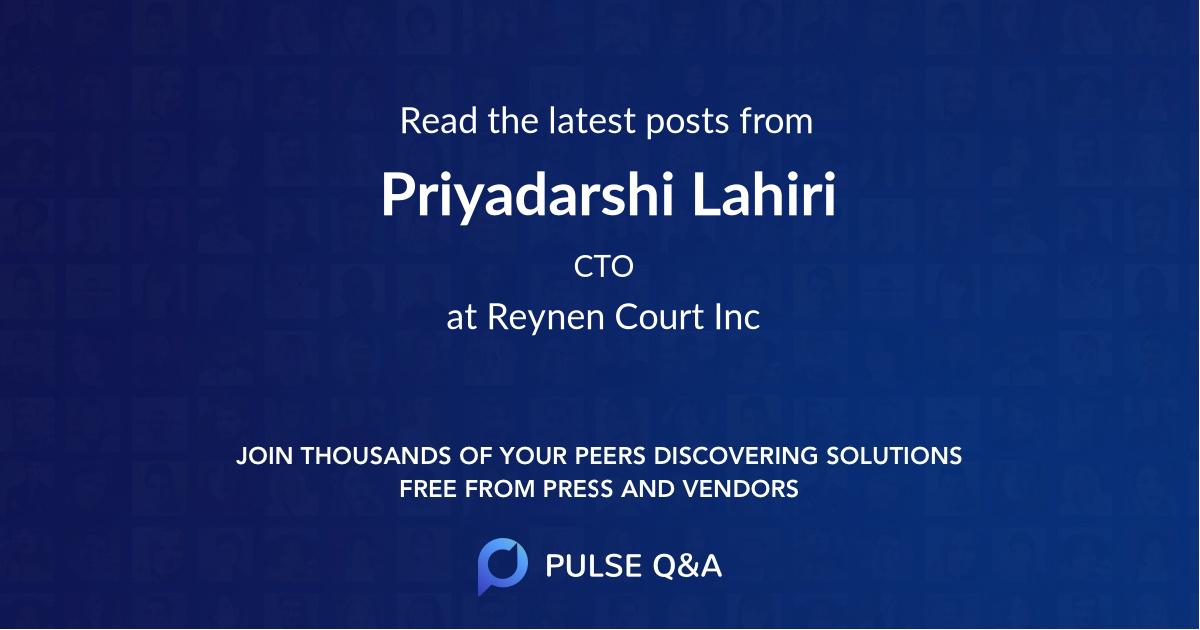 Priyadarshi Lahiri