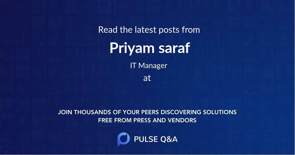 Priyam saraf