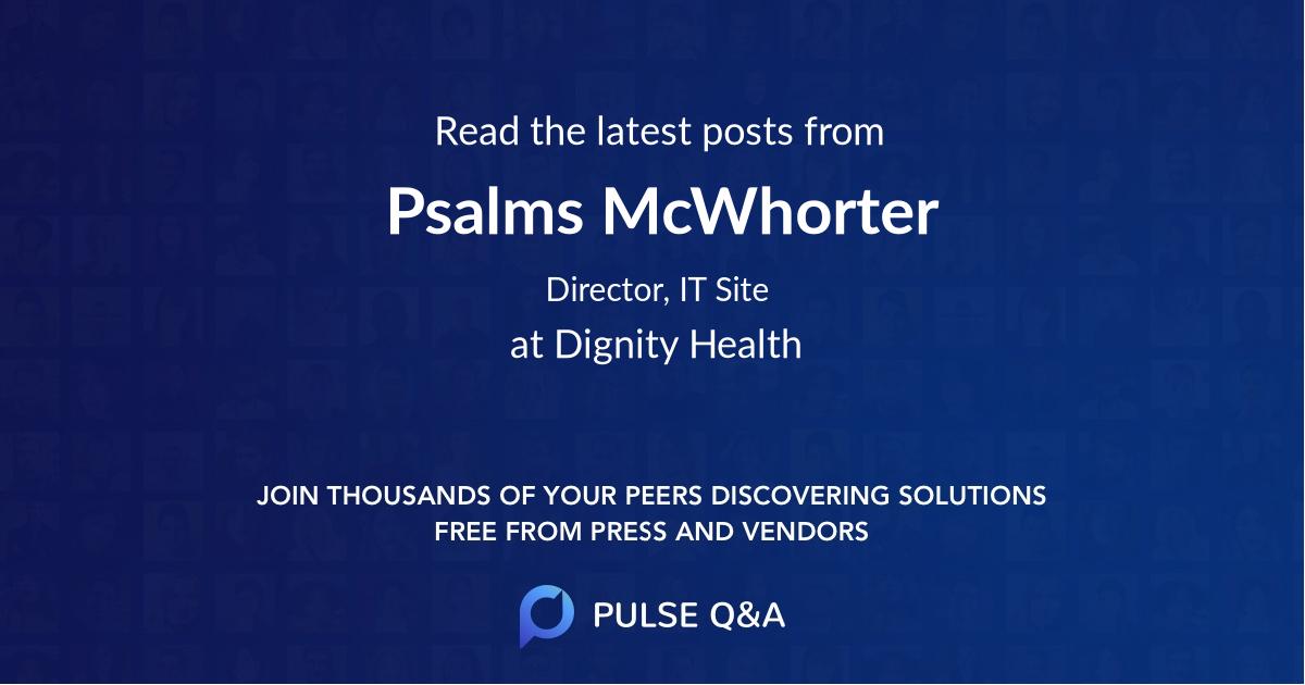 Psalms McWhorter