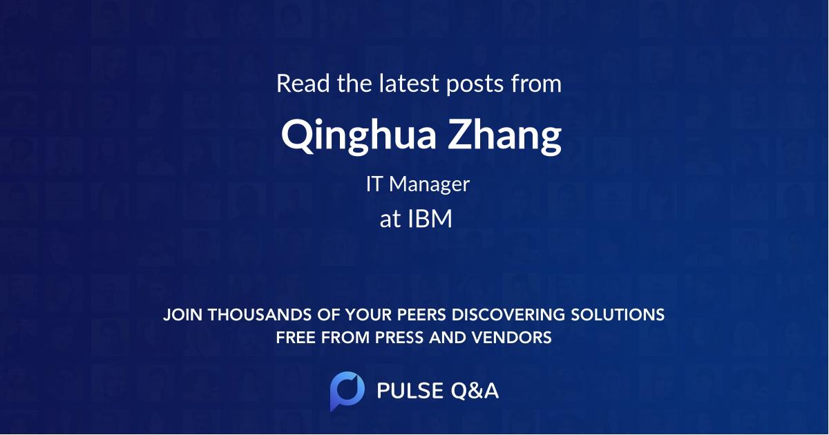 Qinghua Zhang