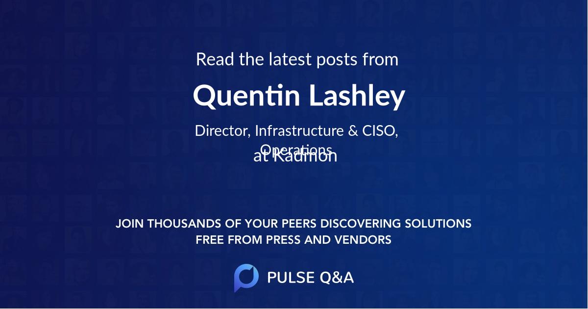Quentin Lashley