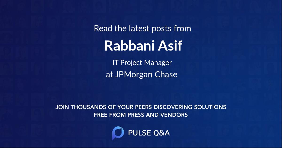 Rabbani Asif