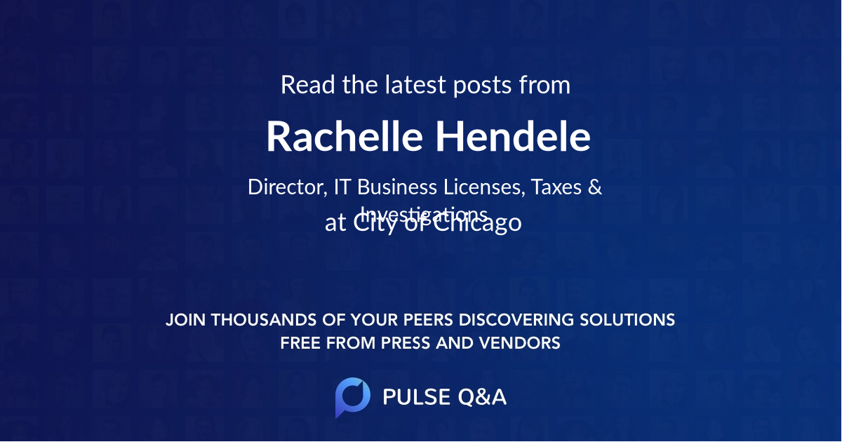 Rachelle Hendele