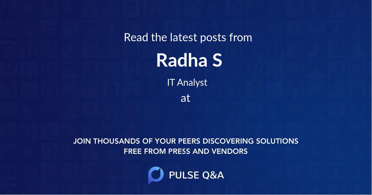 Radha S