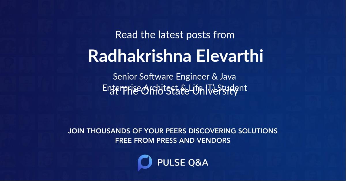 Radhakrishna Elevarthi