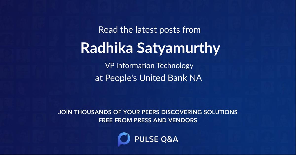 Radhika Satyamurthy