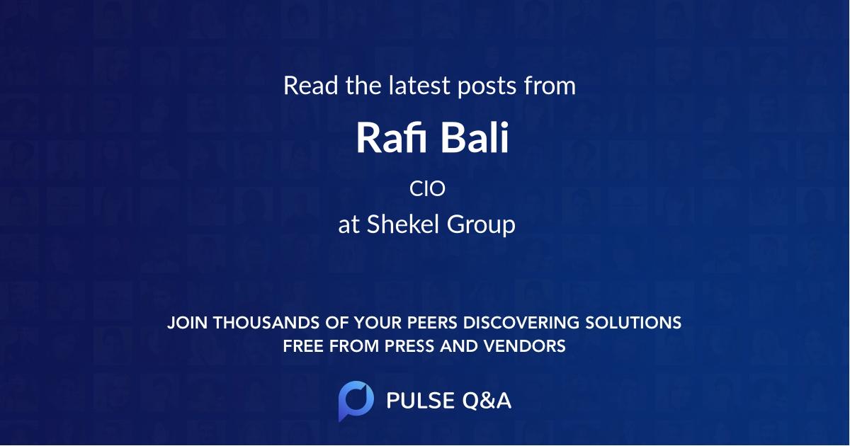 Rafi Bali