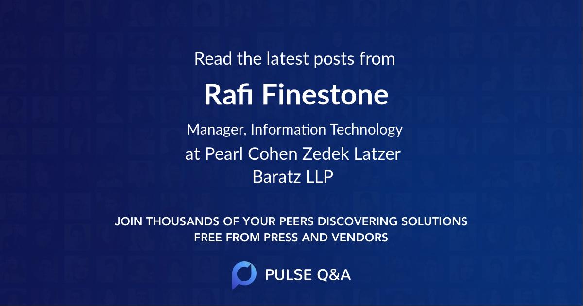 Rafi Finestone