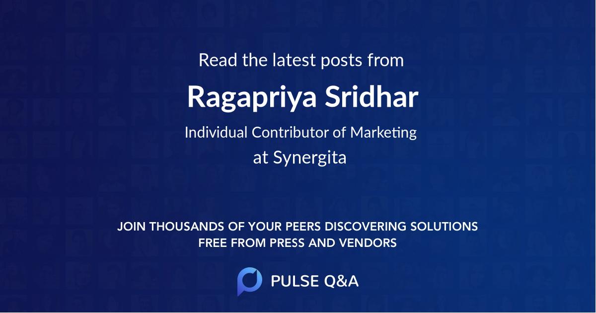 Ragapriya Sridhar