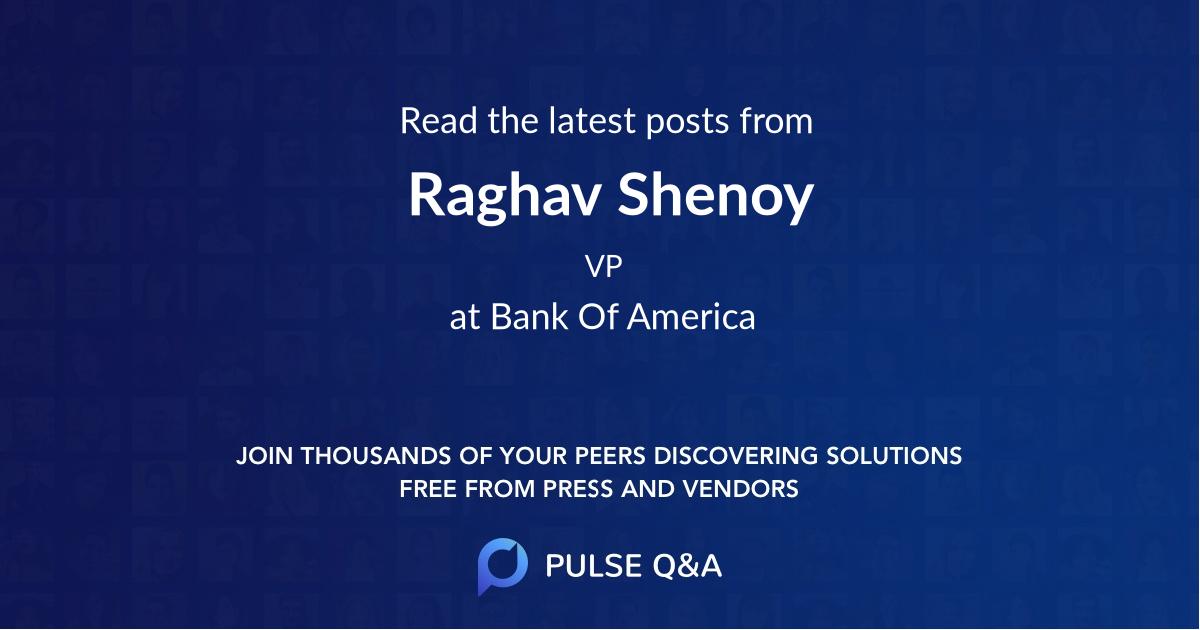 Raghav Shenoy