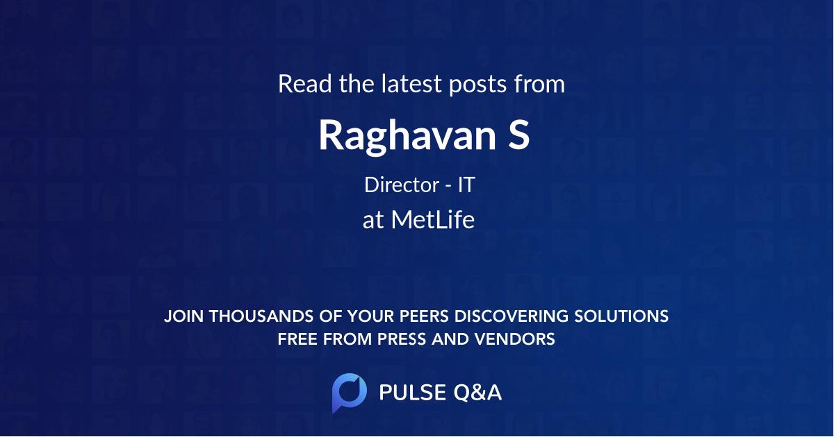 Raghavan S