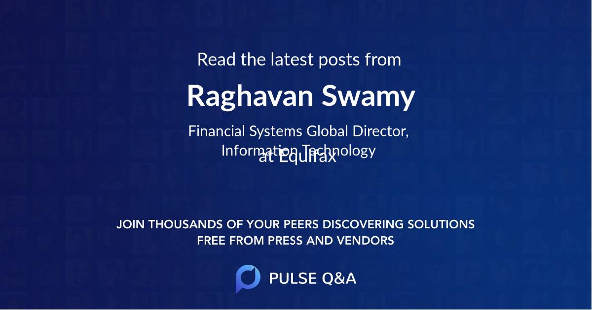 Raghavan Swamy