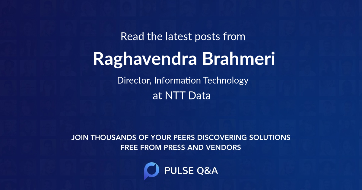 Raghavendra Brahmeri