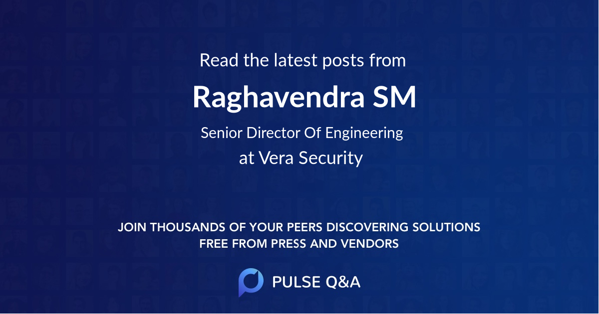 Raghavendra SM