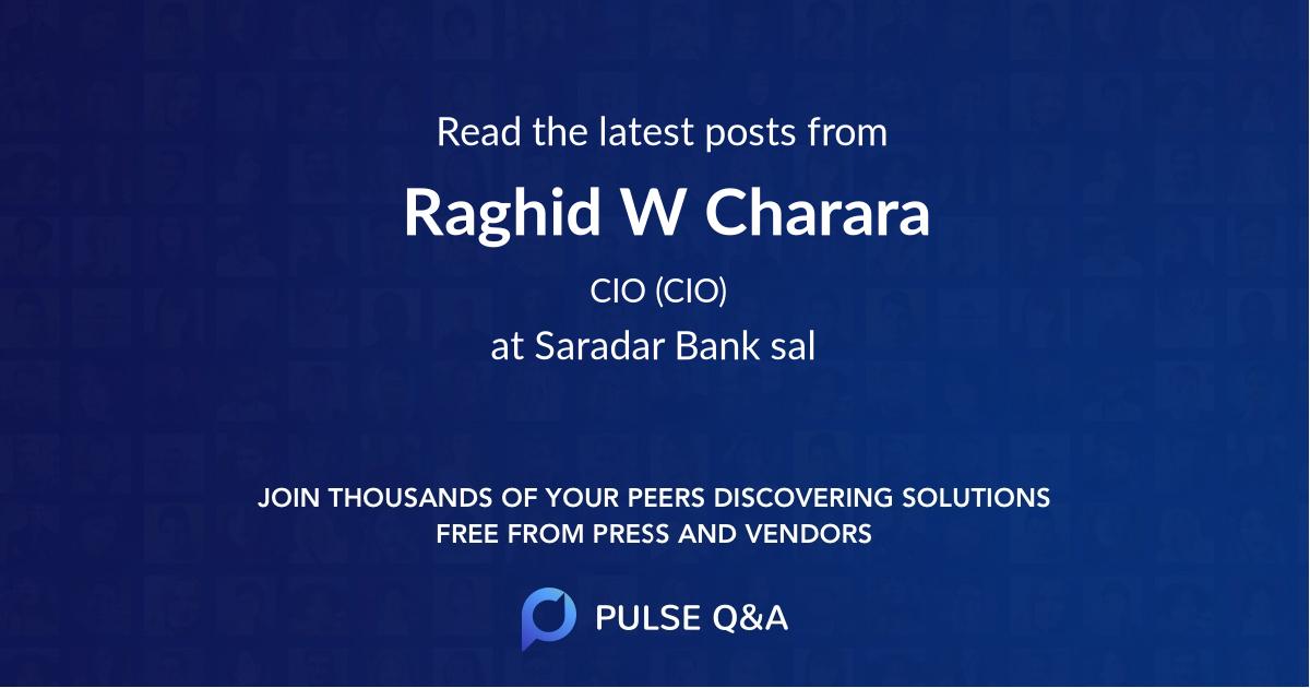 Raghid W. Charara