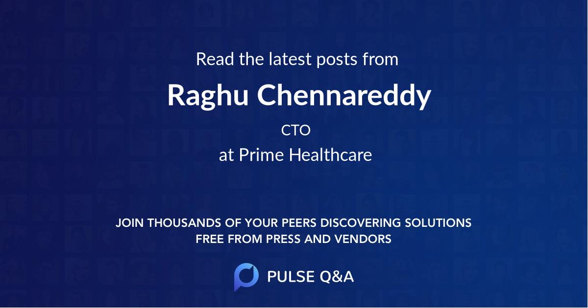 Raghu Chennareddy