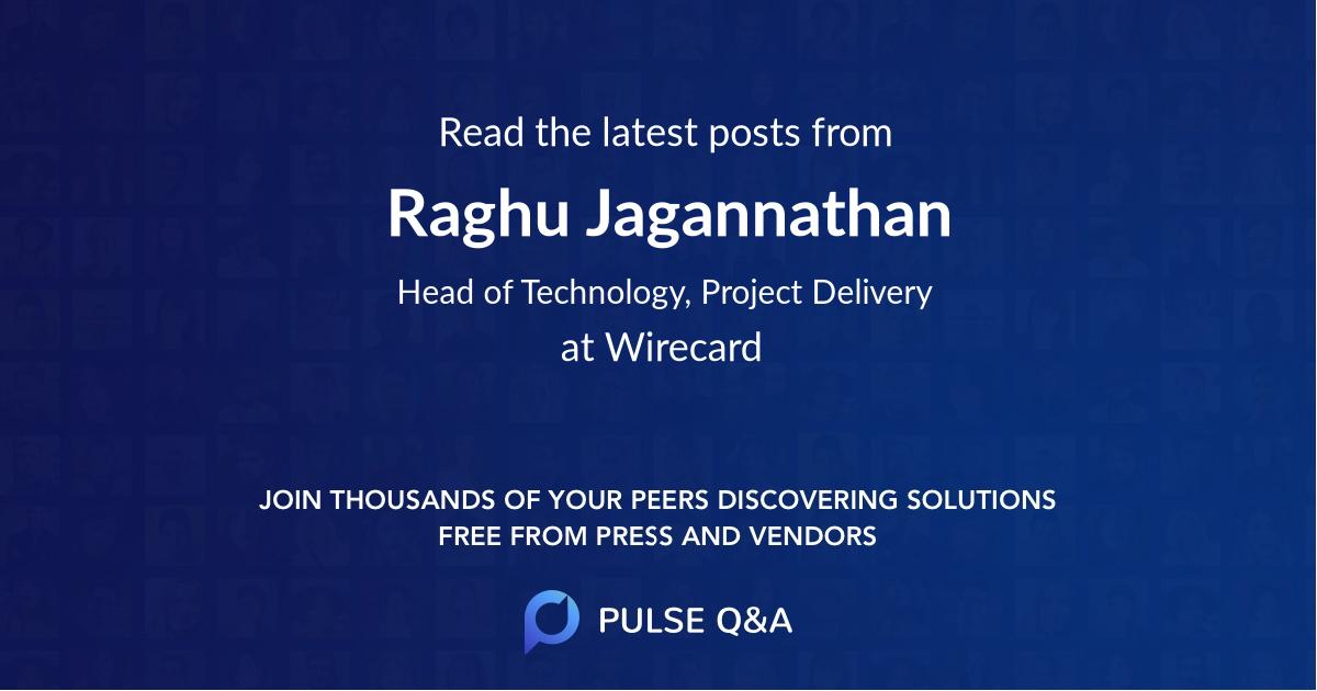 Raghu Jagannathan
