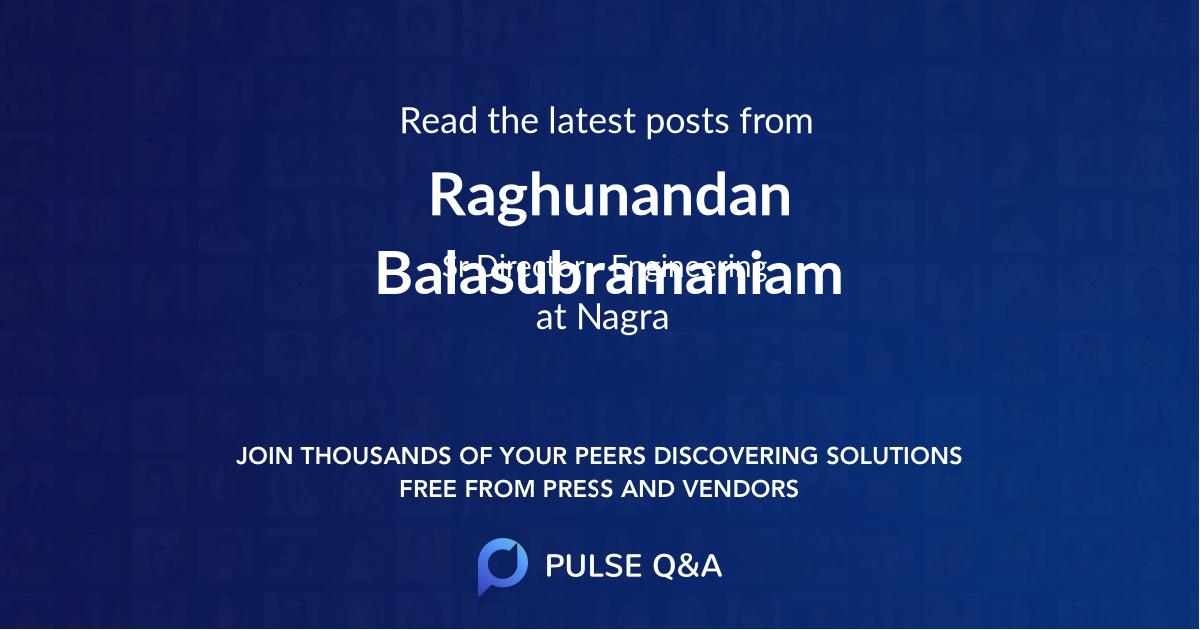 Raghunandan Balasubramaniam