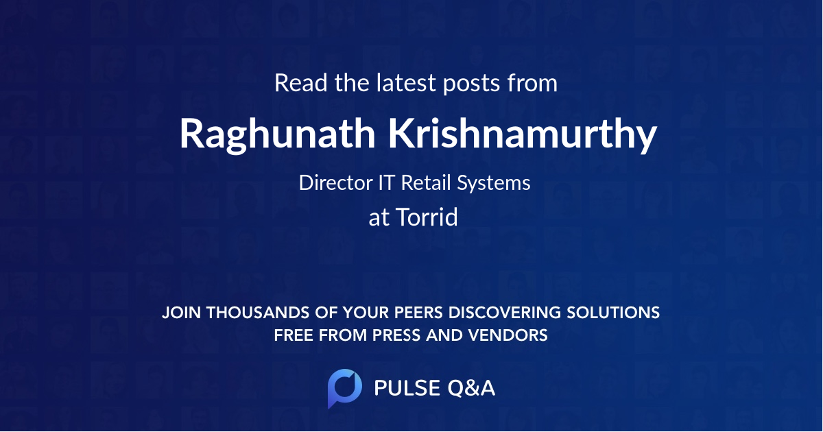 Raghunath Krishnamurthy