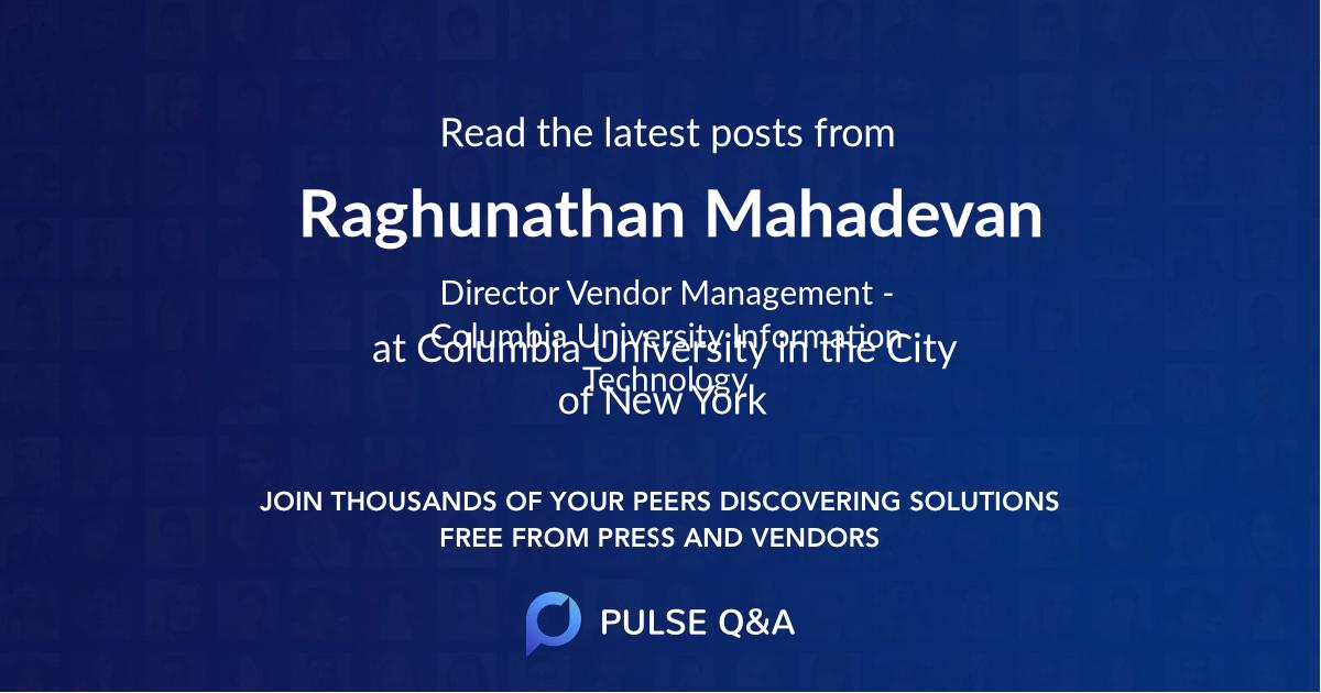 Raghunathan Mahadevan