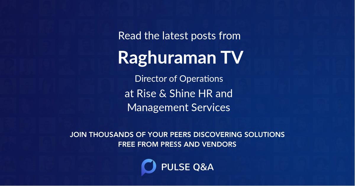 Raghuraman TV