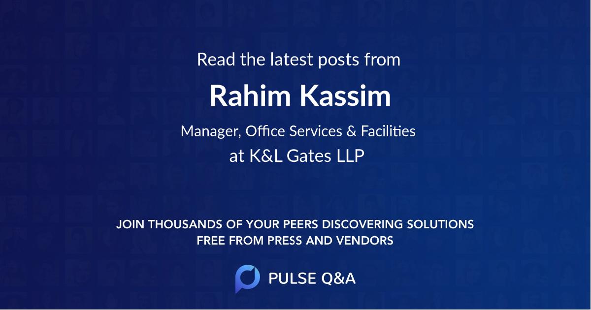 Rahim Kassim
