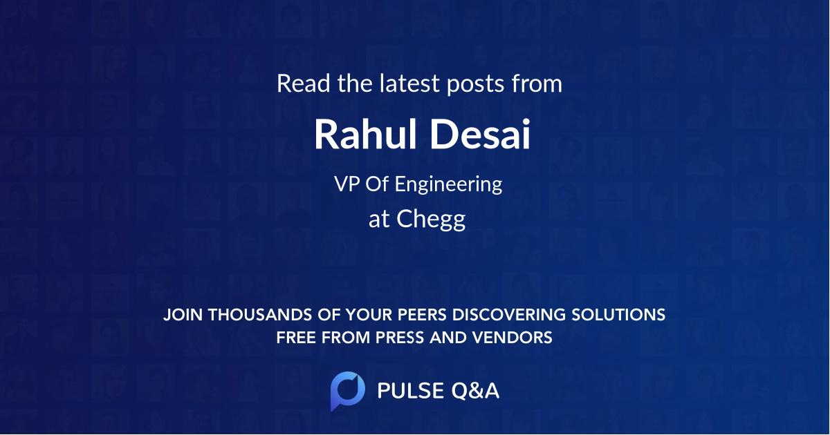 Rahul Desai