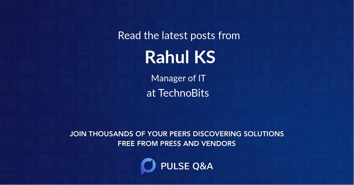 Rahul KS