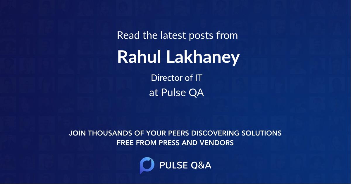 Rahul Lakhaney