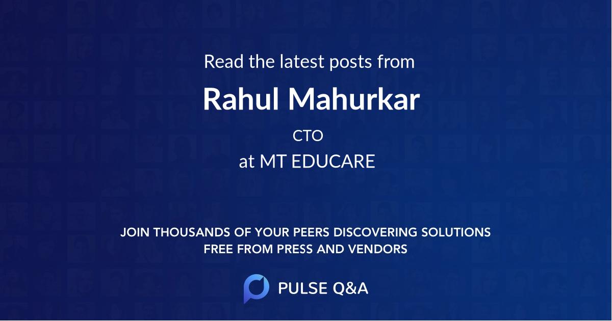 Rahul Mahurkar