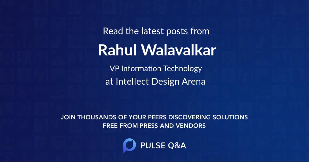 Rahul Walavalkar