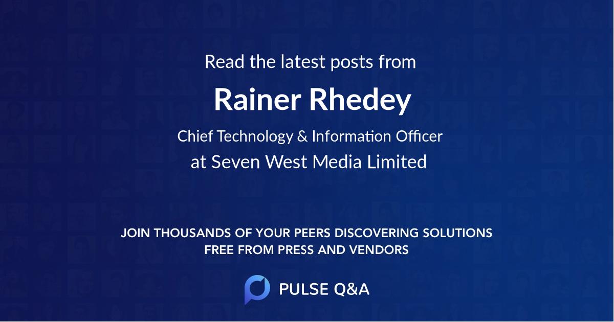 Rainer Rhedey