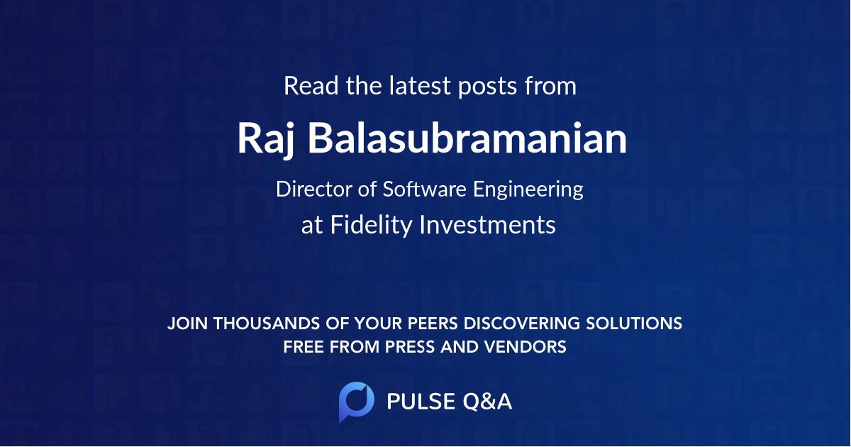 Raj Balasubramanian