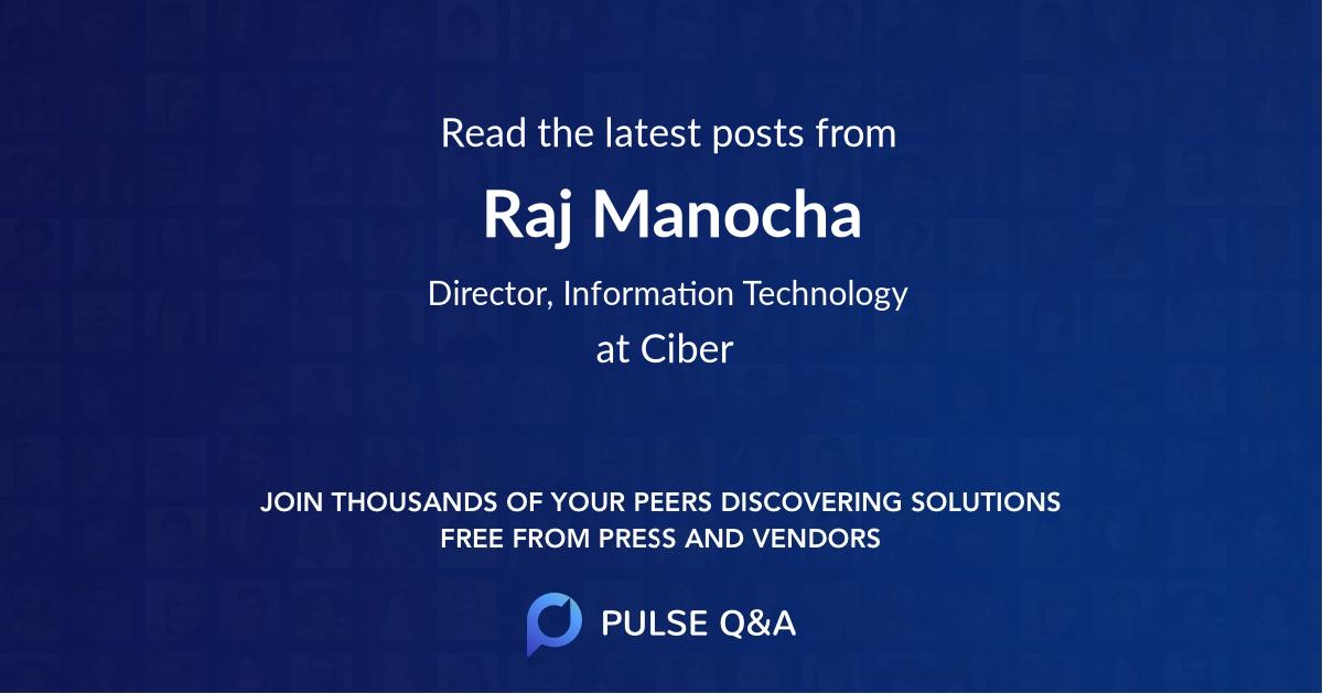 Raj Manocha