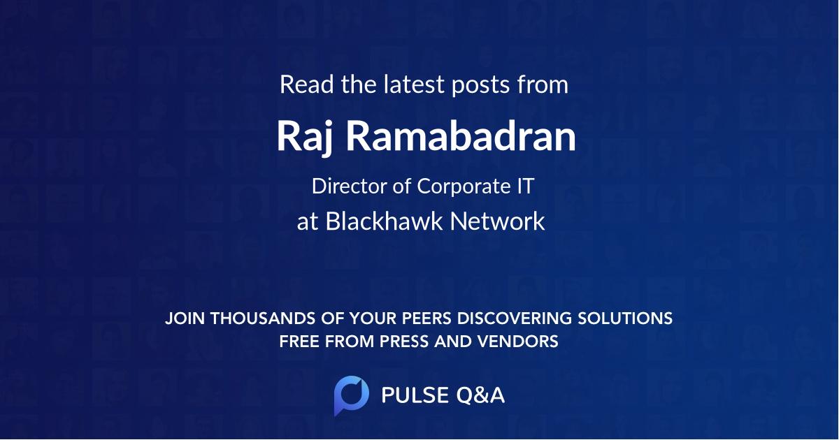 Raj Ramabadran