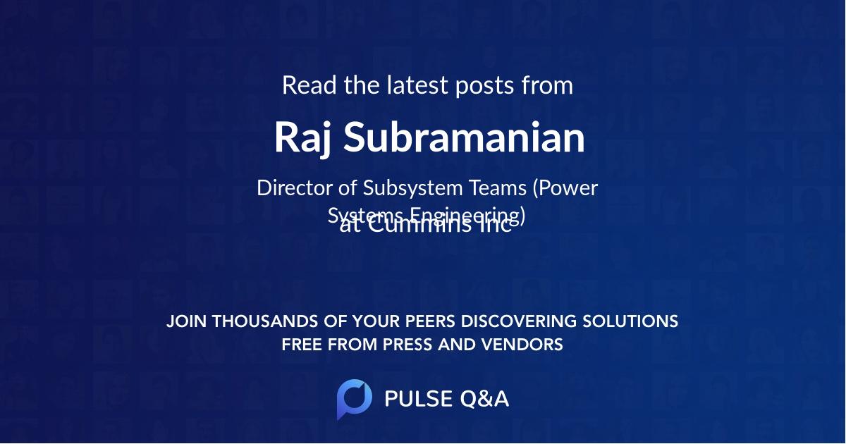Raj Subramanian