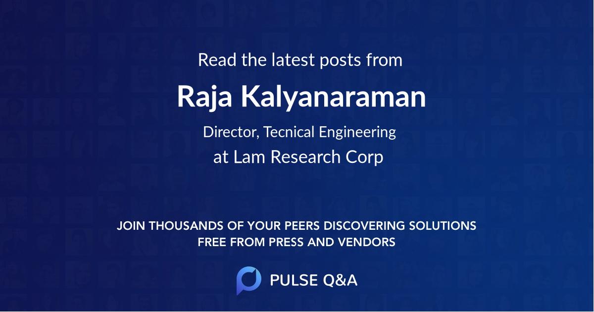 Raja Kalyanaraman