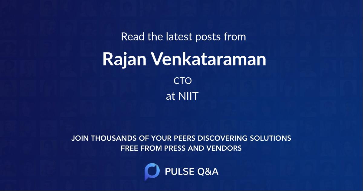 Rajan Venkataraman