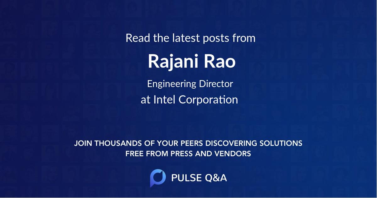 Rajani Rao