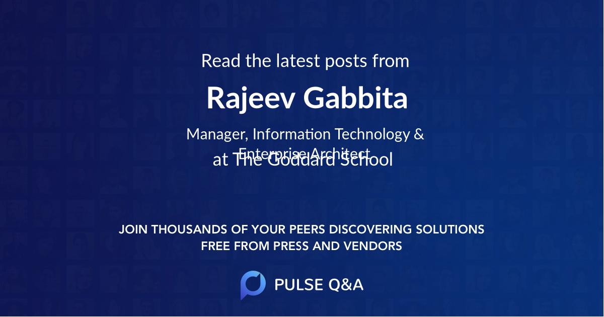 Rajeev Gabbita