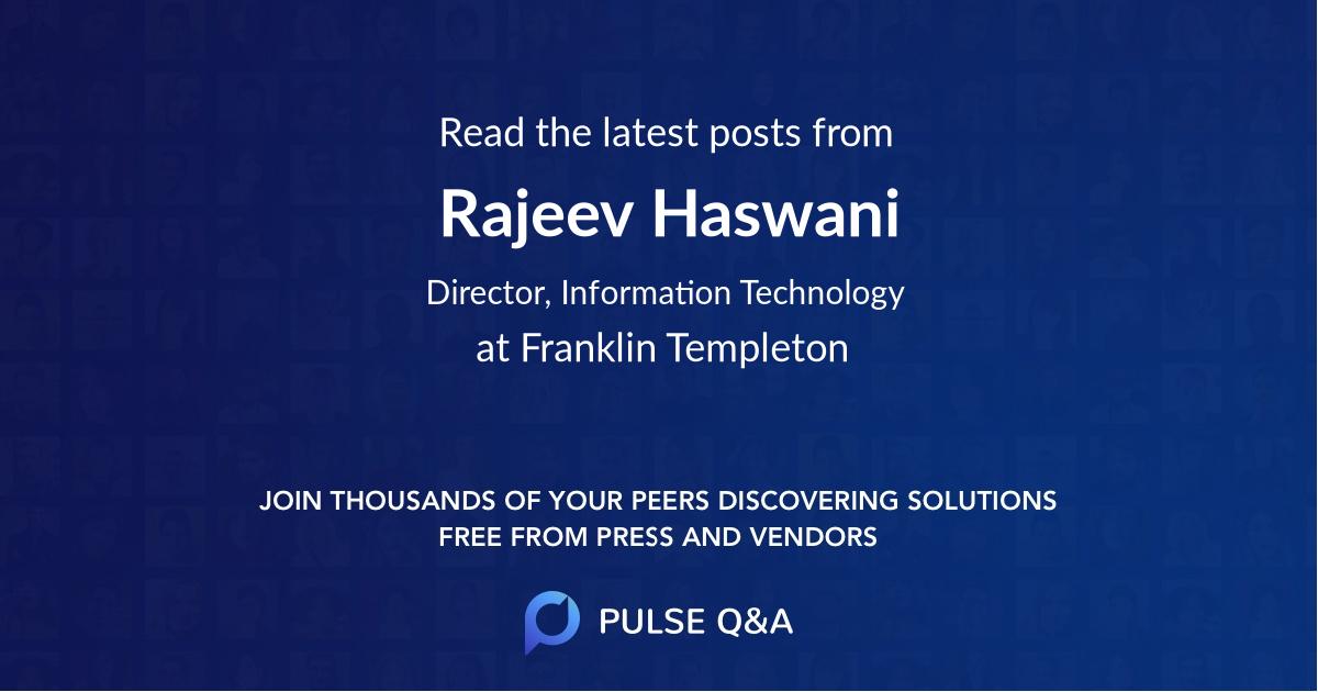 Rajeev Haswani