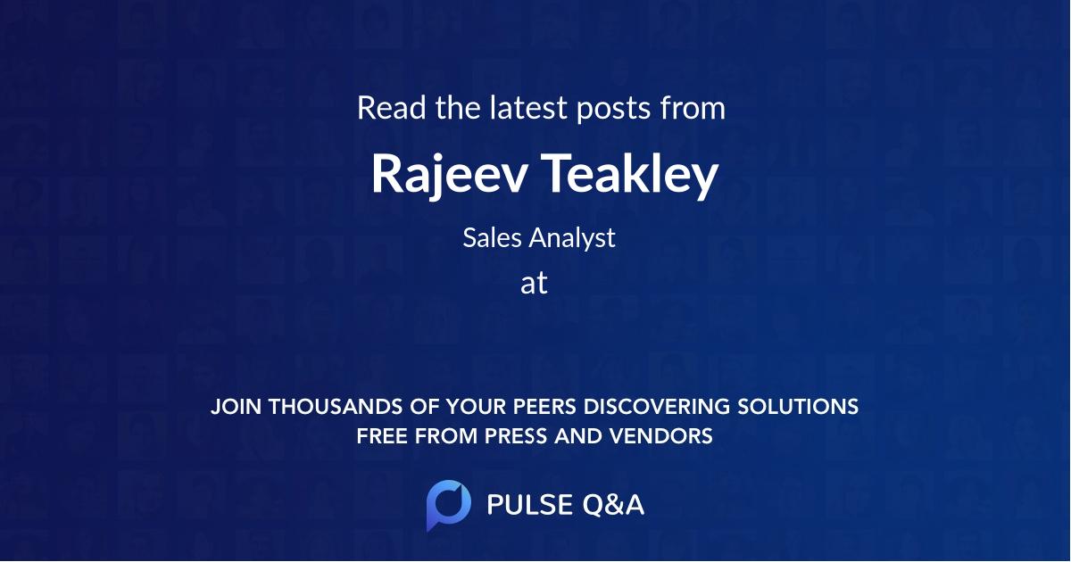 Rajeev Teakley