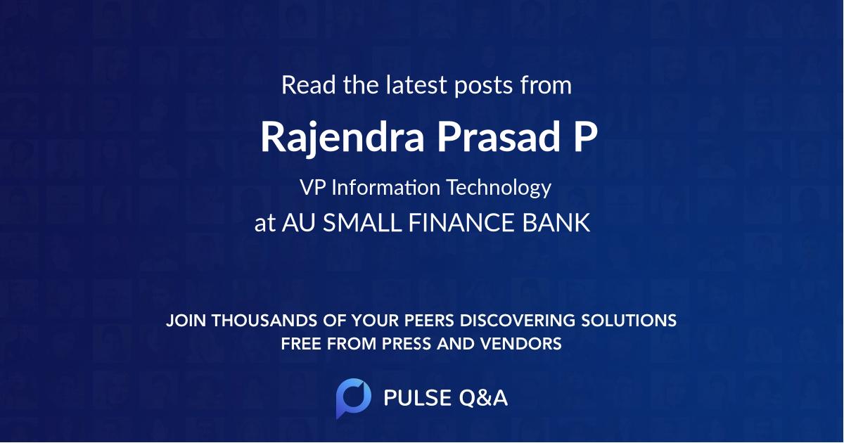 Rajendra Prasad P